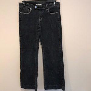 White House Black Market Trouser Leg Black Jeans